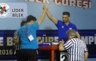 Lider Gençlik Türkiye Bilek Güreşi Şampiyonasına Damgasını Vurdu.
